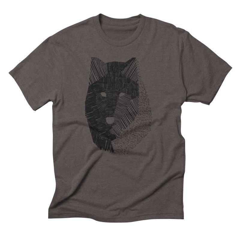 Wolf Mask Men's Triblend T-shirt by ayarti's Artist Shop