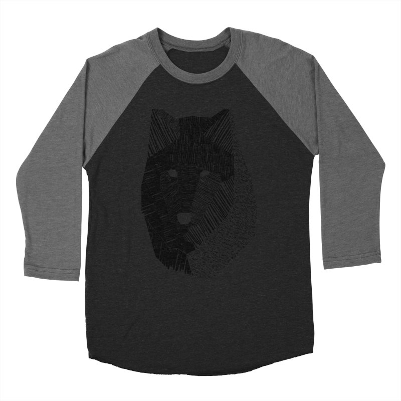 Wolf Mask Women's Baseball Triblend T-Shirt by ayarti's Artist Shop