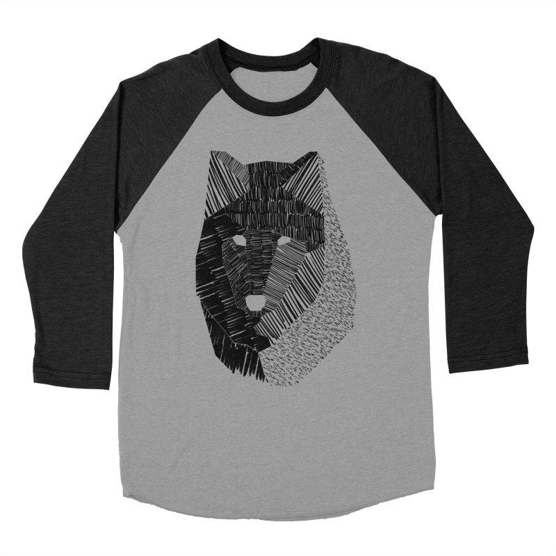 Wolf Mask Women's Baseball Triblend T-Shirt by ayarti's Artist Shop