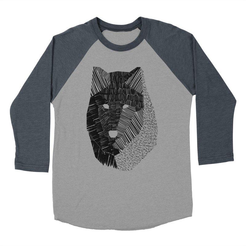Wolf Mask Men's Baseball Triblend T-Shirt by ayarti's Artist Shop