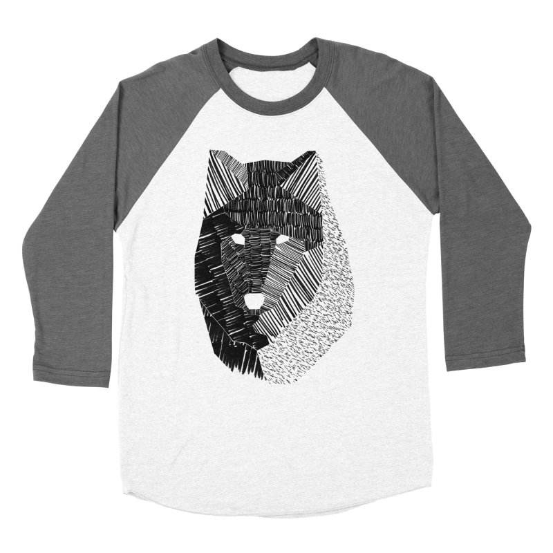 Wolf Mask Men's Baseball Triblend T-Shirt by ayarti's Artist Shop