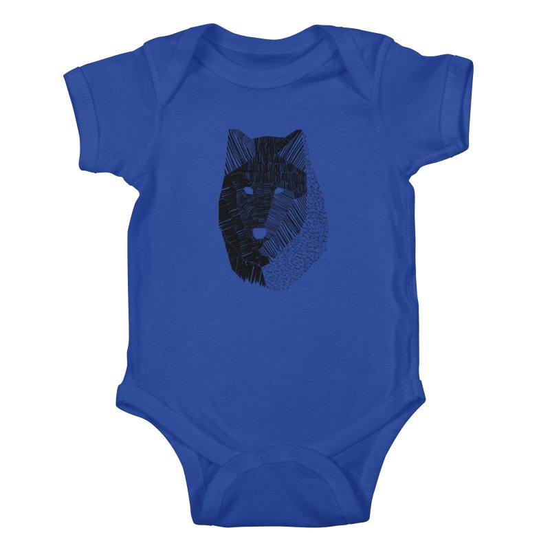 Wolf Mask Kids Baby Bodysuit by ayarti's Artist Shop