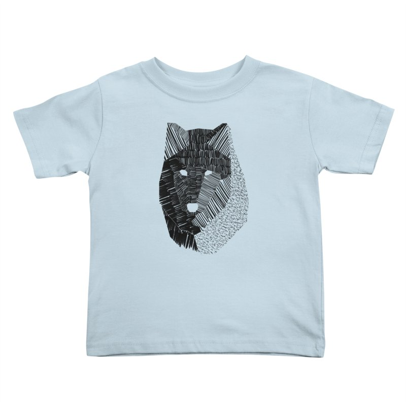 Wolf Mask Kids Toddler T-Shirt by ayarti's Artist Shop