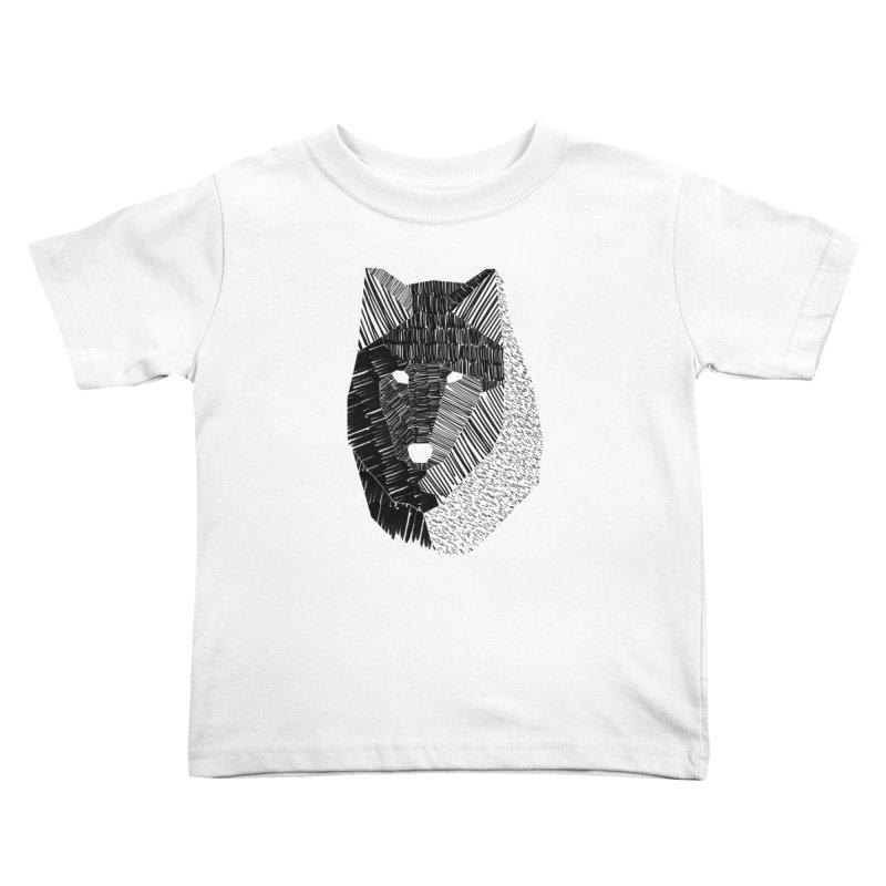 Wolf Mask Kids Toddler T-Shirt by ayarti's Artist Shop