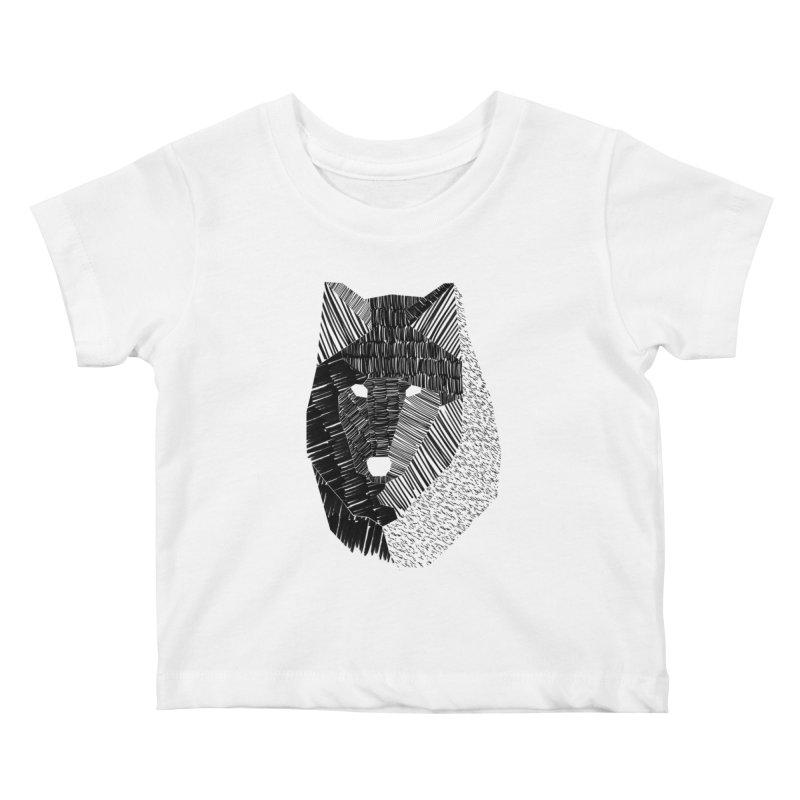 Wolf Mask Kids Baby T-Shirt by ayarti's Artist Shop