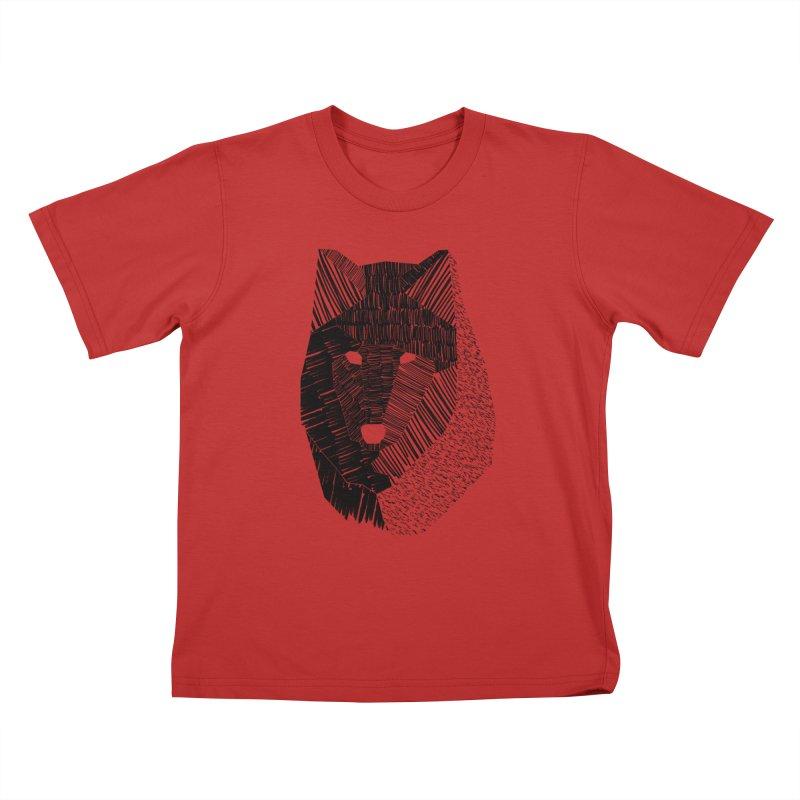 Wolf Mask Kids T-shirt by ayarti's Artist Shop