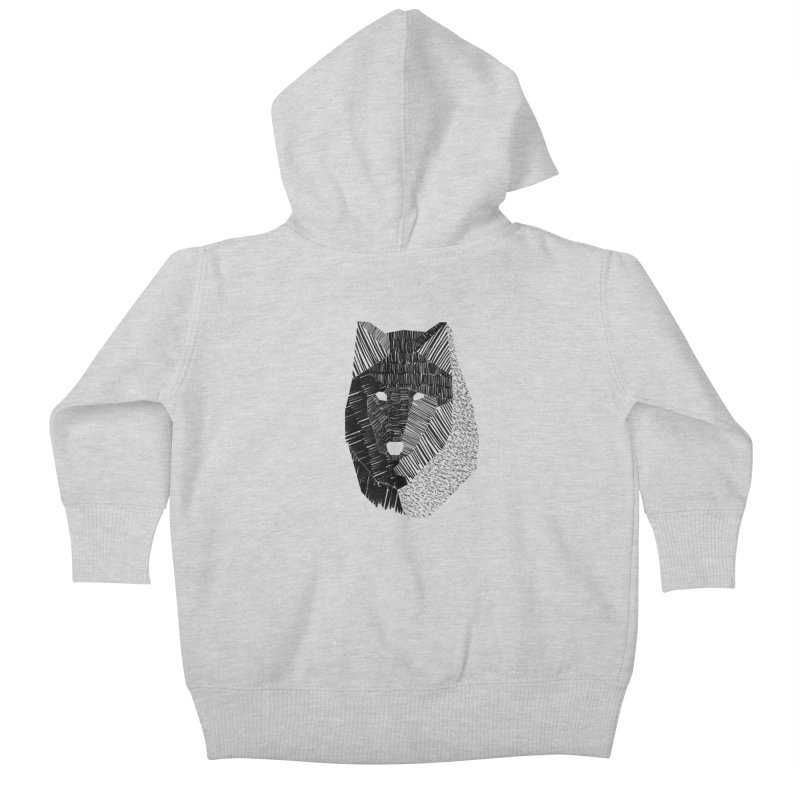 Wolf Mask Kids Baby Zip-Up Hoody by ayarti's Artist Shop