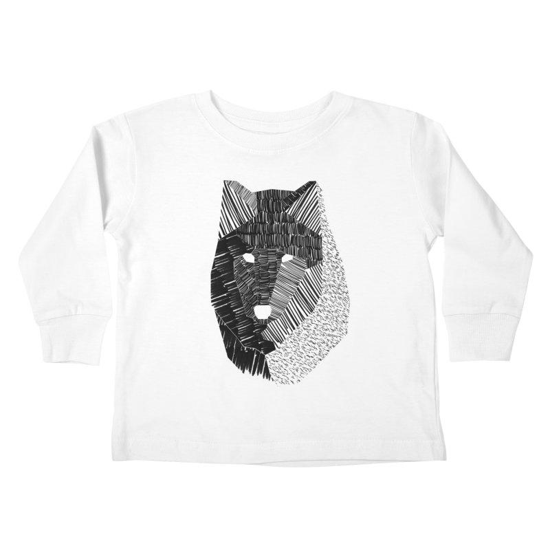 Wolf Mask Kids Toddler Longsleeve T-Shirt by ayarti's Artist Shop