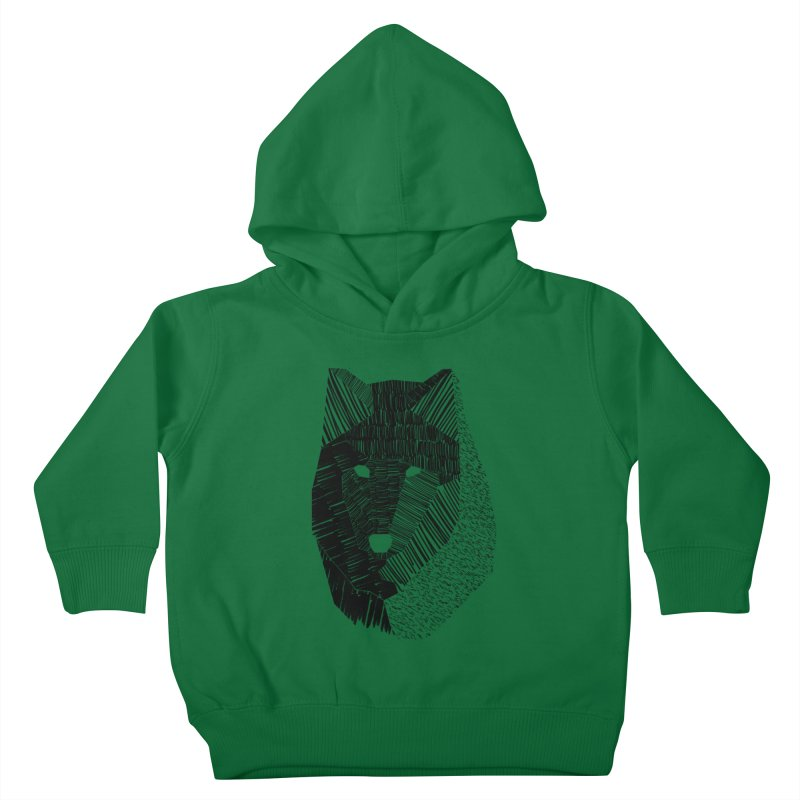 Wolf Mask Kids Toddler Pullover Hoody by ayarti's Artist Shop