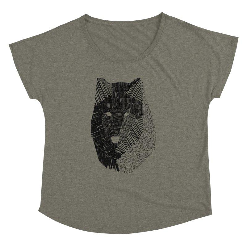 Wolf Mask Women's Dolman by ayarti's Artist Shop