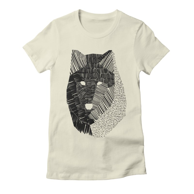Wolf Mask Women's Fitted T-Shirt by ayarti's Artist Shop