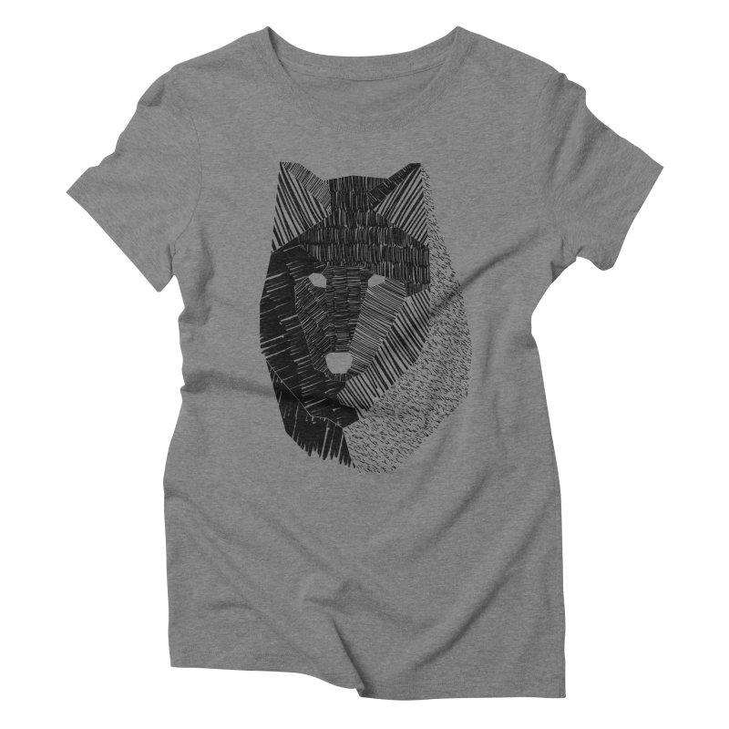 Wolf Mask Women's Triblend T-Shirt by ayarti's Artist Shop