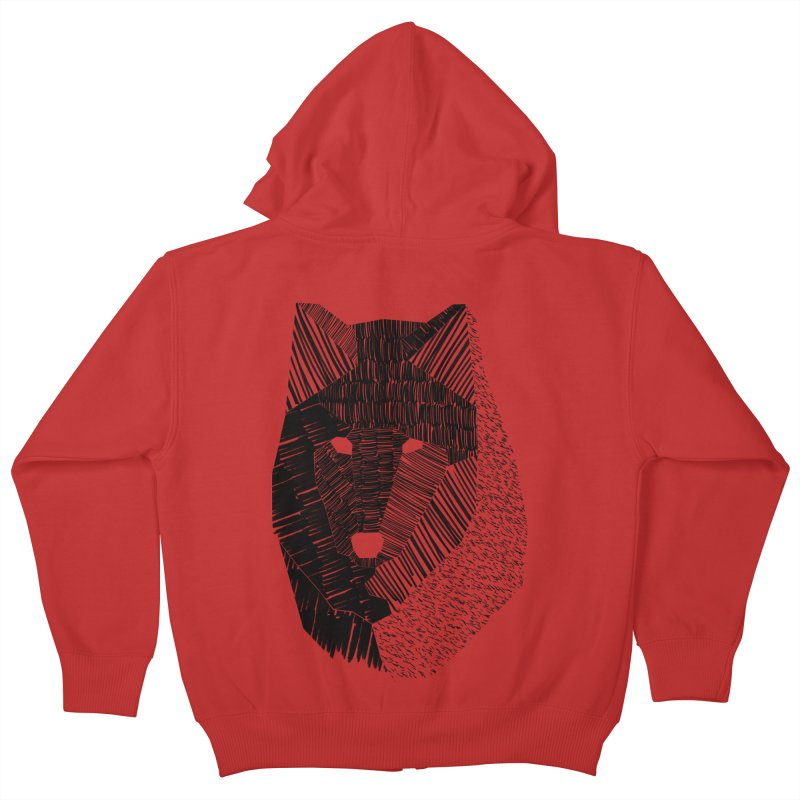 Wolf Mask Kids Zip-Up Hoody by ayarti's Artist Shop