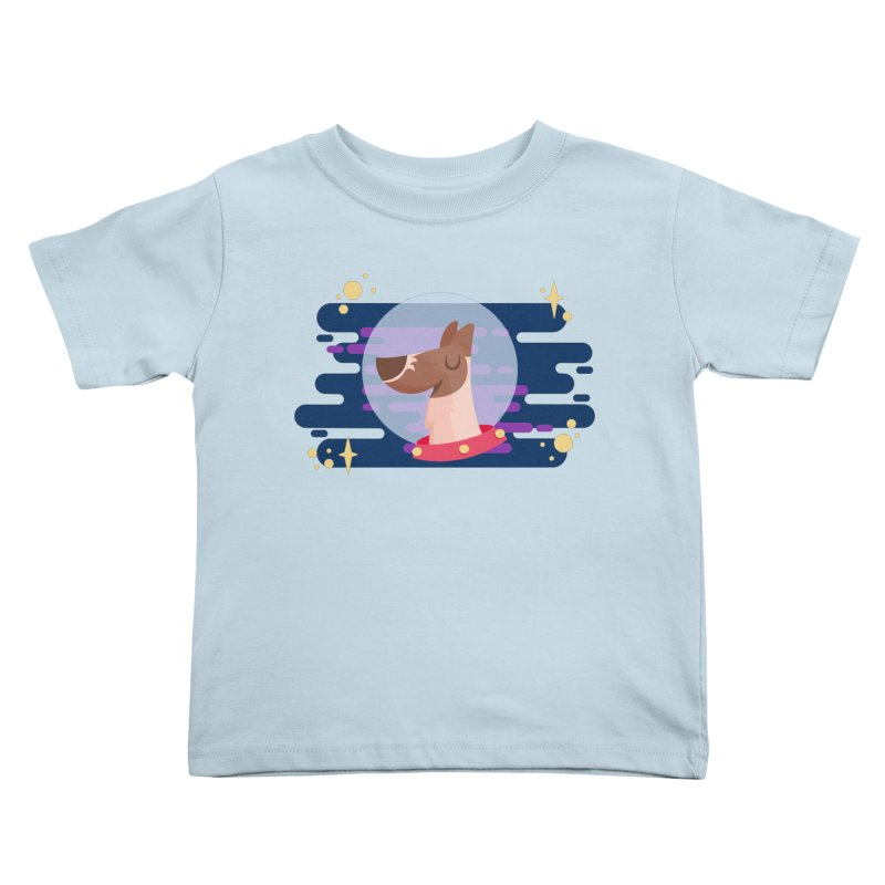 Space Dog Kids Toddler T-Shirt by -AY- Creative Shop