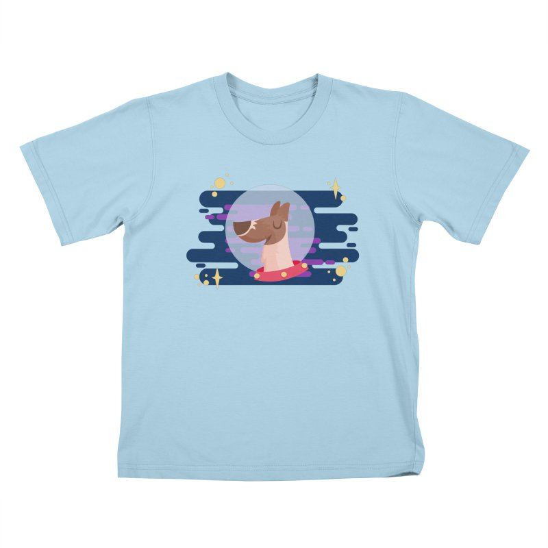 Space Dog Kids T-Shirt by -AY- Creative Shop