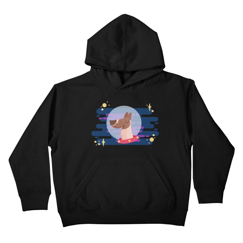 Space Dog Kids Pullover Hoody by -AY- Creative Shop