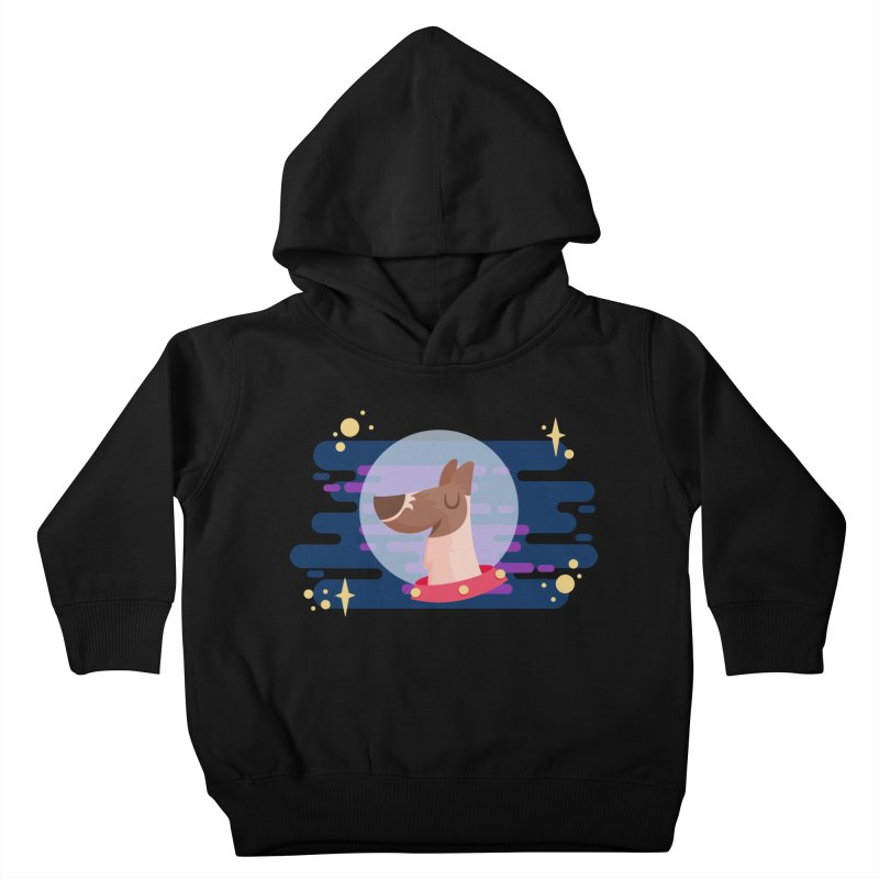 Space Dog Kids Toddler Pullover Hoody by -AY- Creative Shop