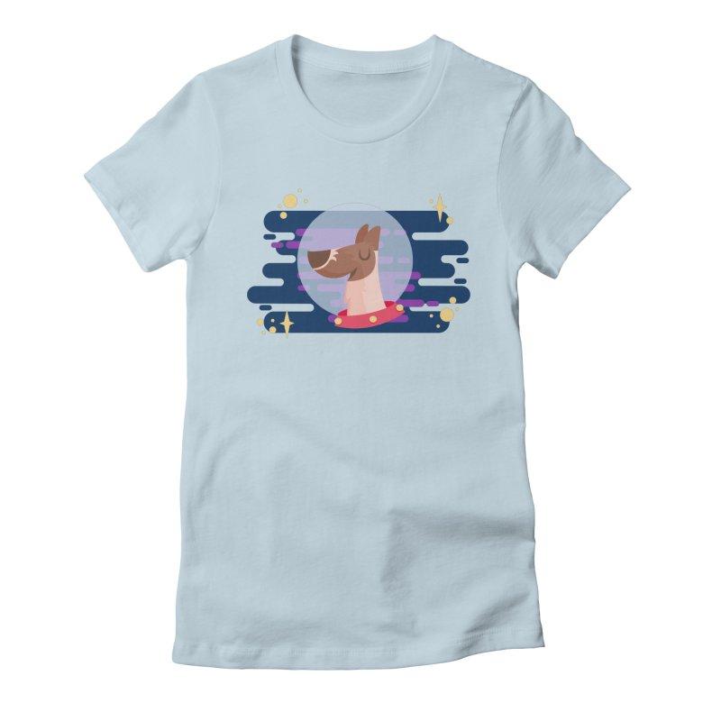 Space Dog Women's T-Shirt by -AY- Creative Shop