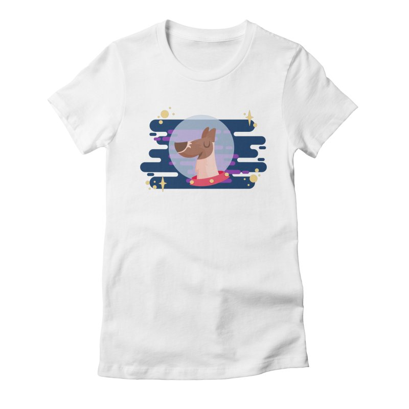 Space Dog Women's Fitted T-Shirt by -AY- Creative Shop