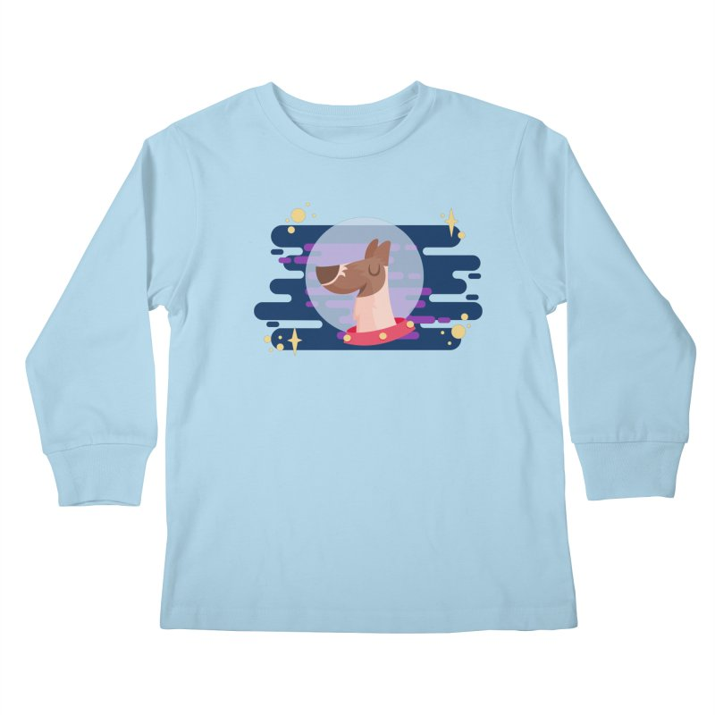Space Dog Kids Longsleeve T-Shirt by -AY- Creative Shop