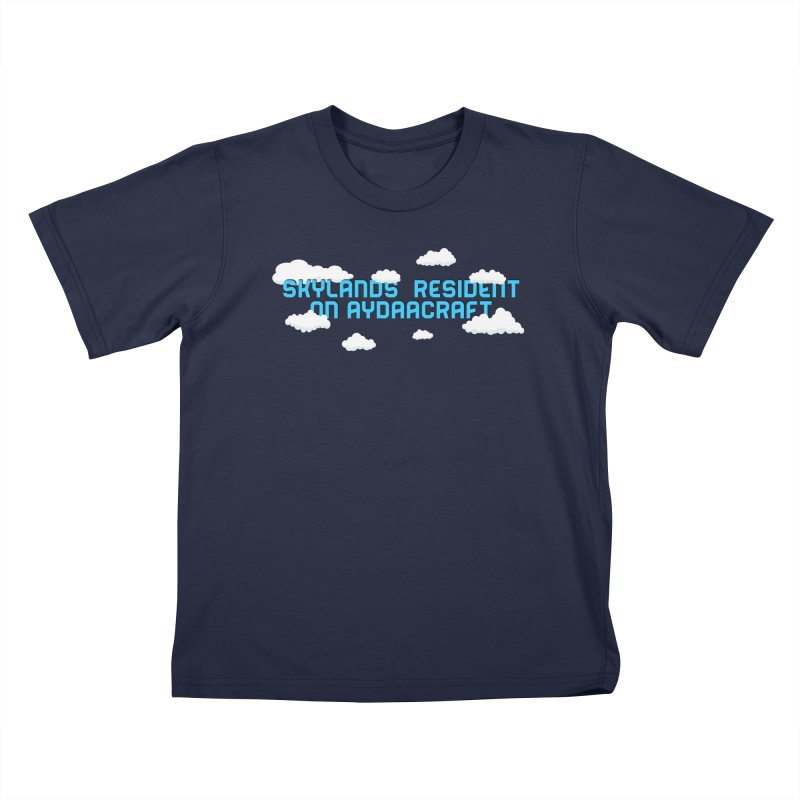 SkyLands Resident Kids T-Shirt by AydaaCraft's Merch Store
