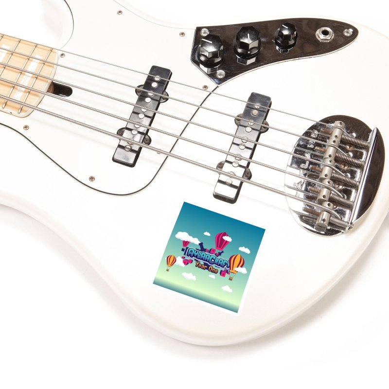 Year One W/ Background Accessories Sticker by AydaaCraft's Merch Store
