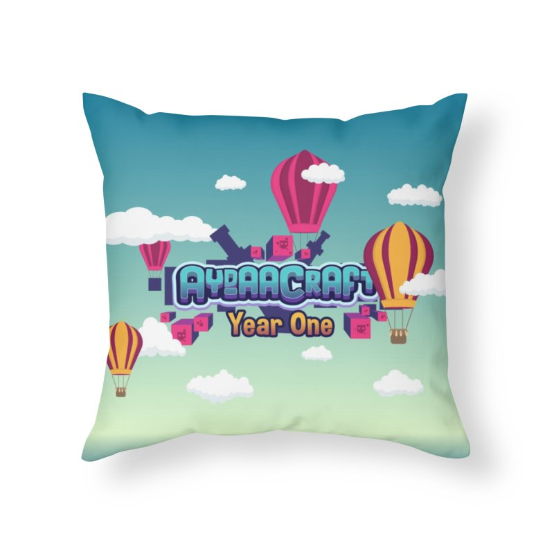 Year One W/ Background Home Throw Pillow by AydaaCraft's Merch Store