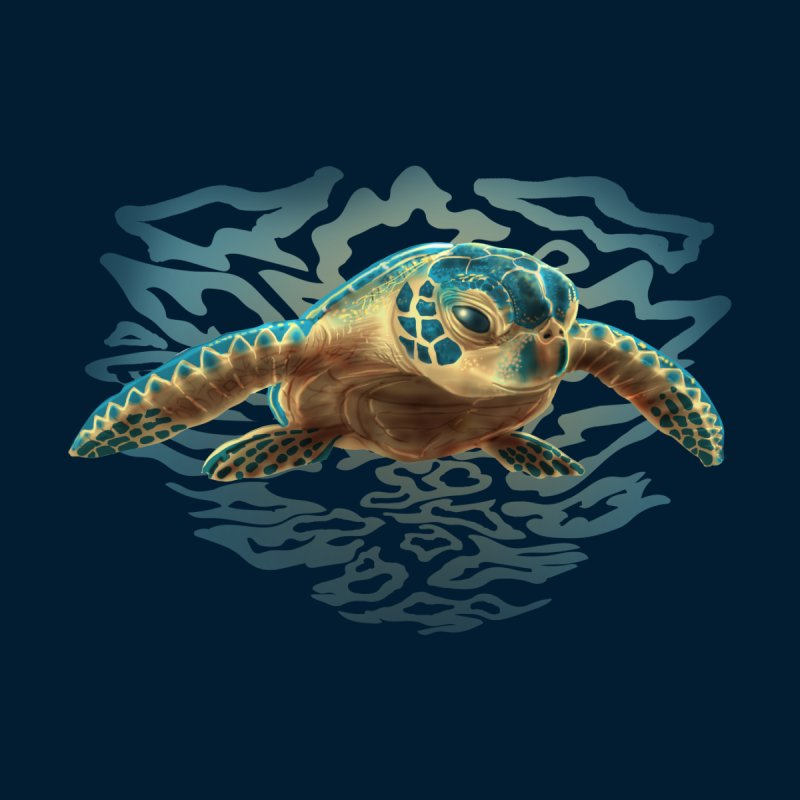 Sea Turtle Men's Tank by Ayota Illustration Shop