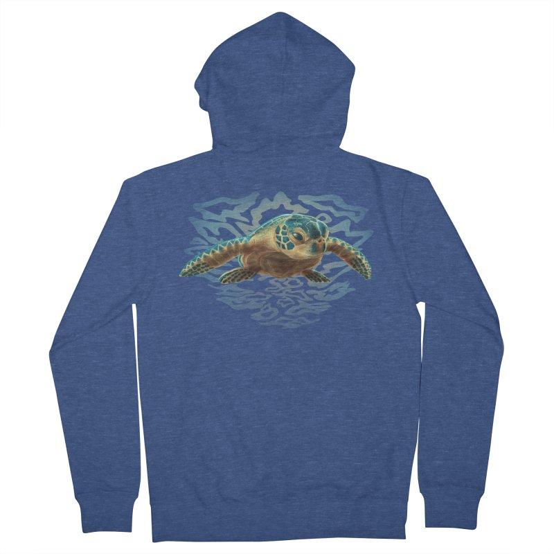 Sea Turtle Men's Zip-Up Hoody by Ayota Illustration Shop