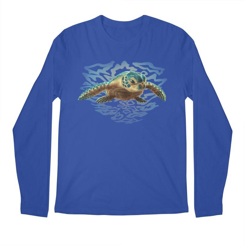 Sea Turtle Men's Regular Longsleeve T-Shirt by Ayota Illustration Shop