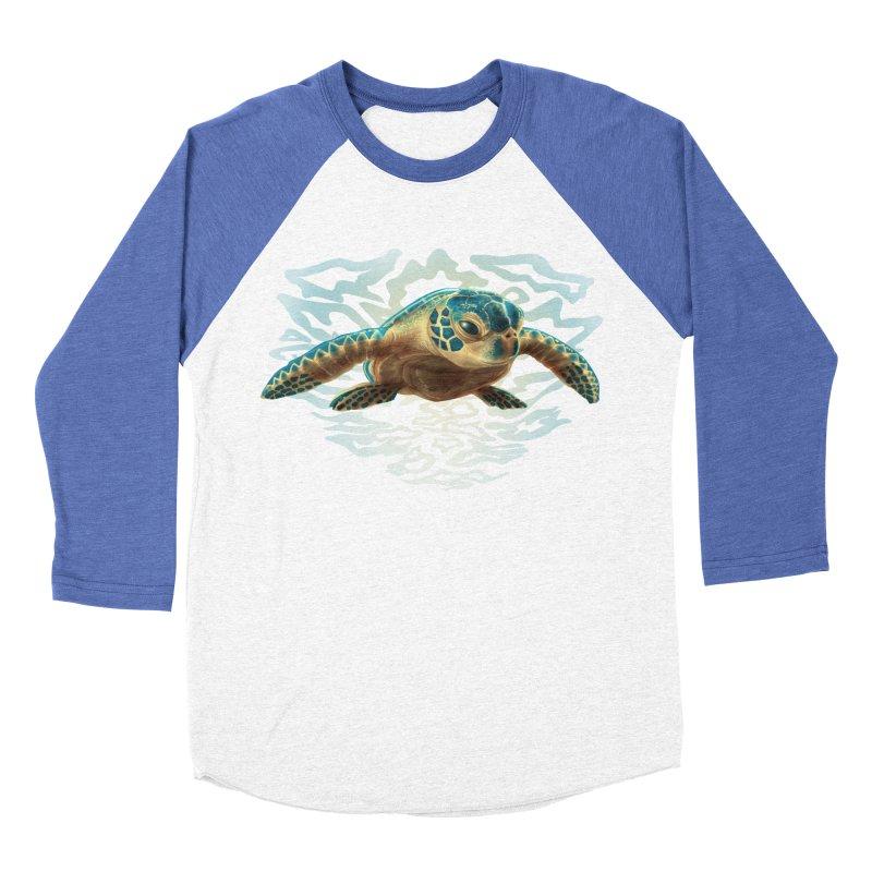 Sea Turtle Women's Baseball Triblend Longsleeve T-Shirt by Ayota Illustration Shop