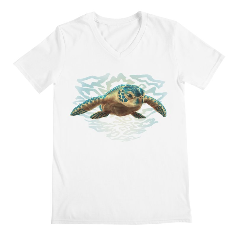 Sea Turtle Men's V-Neck by Ayota Illustration Shop