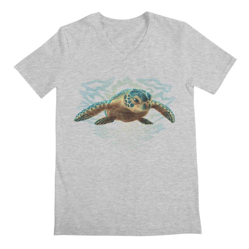 Sea Turtle Men's V-Neck by Ayota Illustration Shop