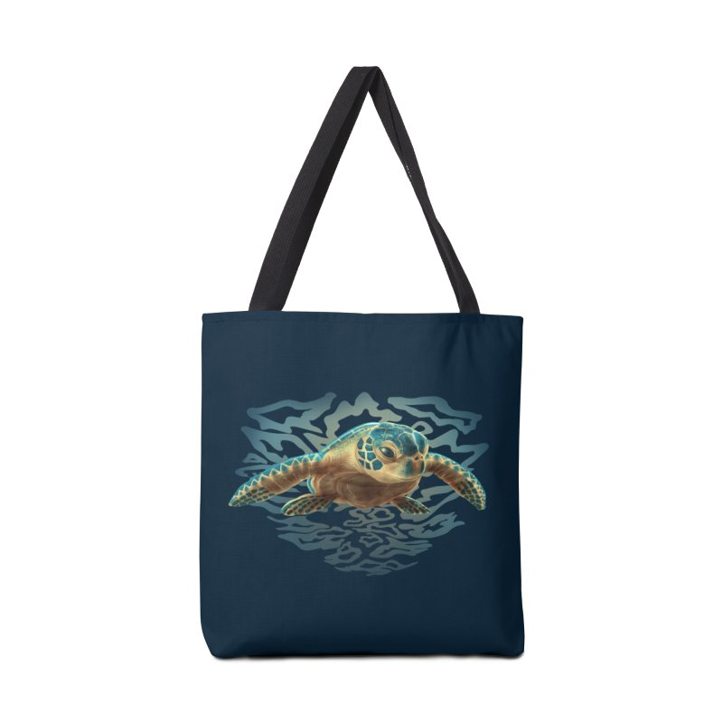 Sea Turtle Accessories Bag by Ayota Illustration Shop