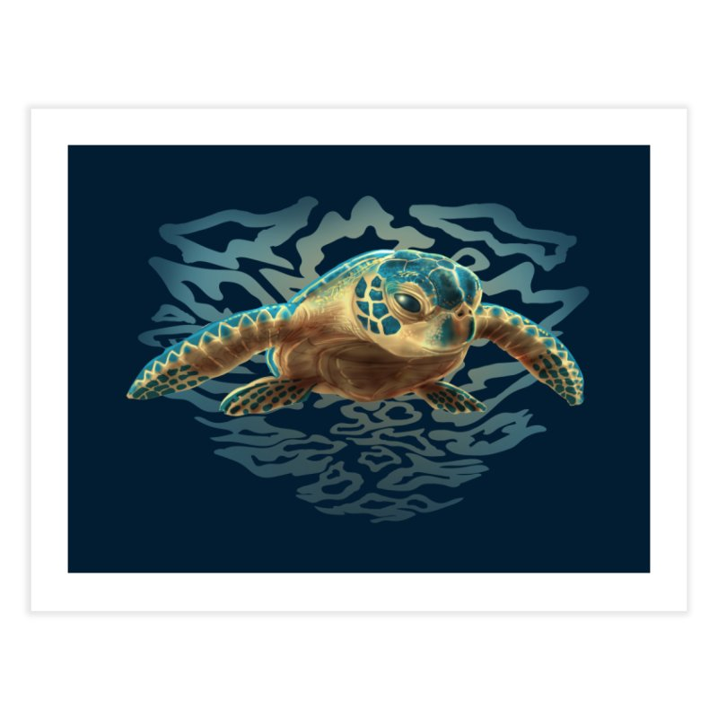 Sea Turtle Home Fine Art Print by Ayota Illustration Shop