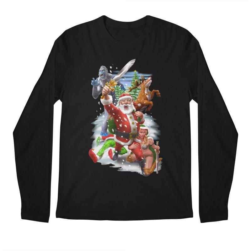 Santa The Barbarian Men's Regular Longsleeve T-Shirt by Ayota Illustration Shop