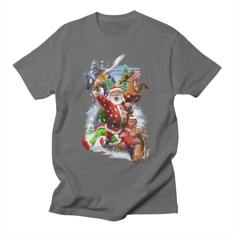 Santa The Barbarian Men's T-Shirt by Ayota Illustration Shop