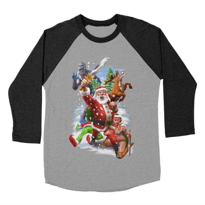 Santa The Barbarian Women's Baseball Triblend Longsleeve T-Shirt by Ayota Illustration Shop
