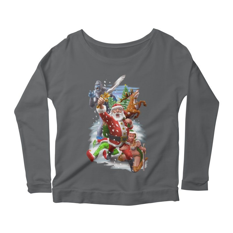 Santa The Barbarian Women's Longsleeve T-Shirt by Ayota Illustration Shop