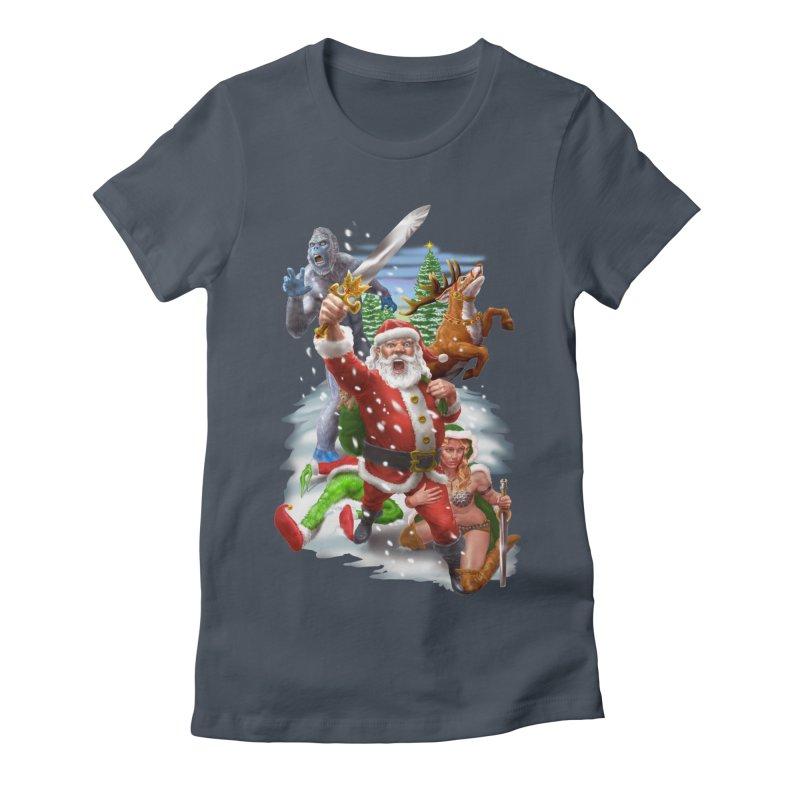 Santa The Barbarian Women's T-Shirt by Ayota Illustration Shop