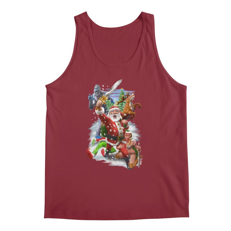 Santa The Barbarian Men's Regular Tank by Ayota Illustration Shop