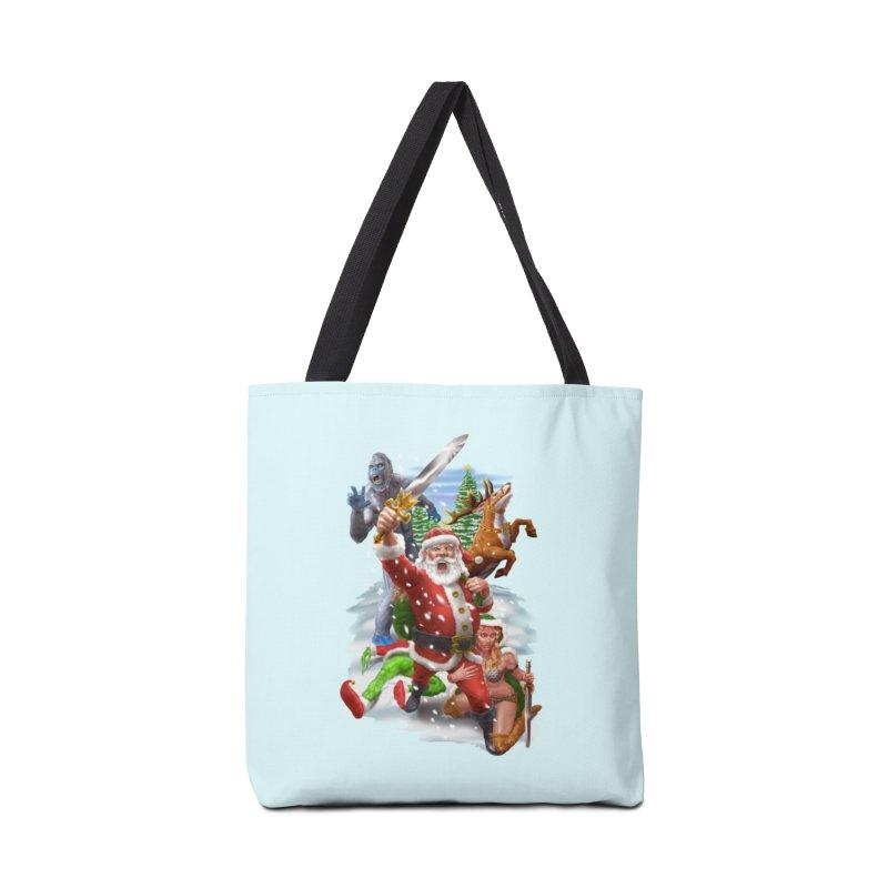 Santa The Barbarian Accessories Tote Bag Bag by Ayota Illustration Shop