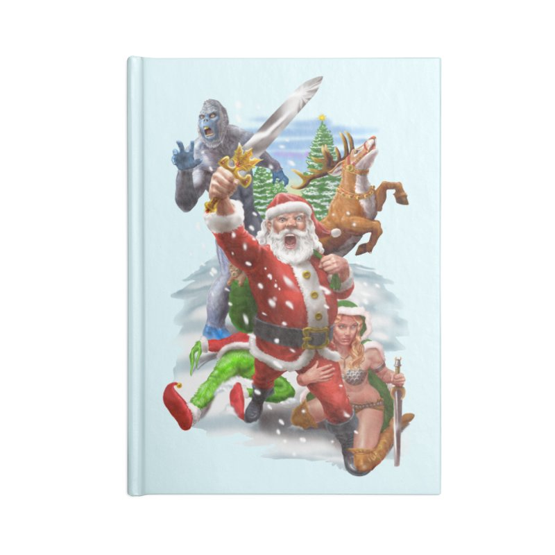 Santa The Barbarian Accessories Blank Journal Notebook by Ayota Illustration Shop
