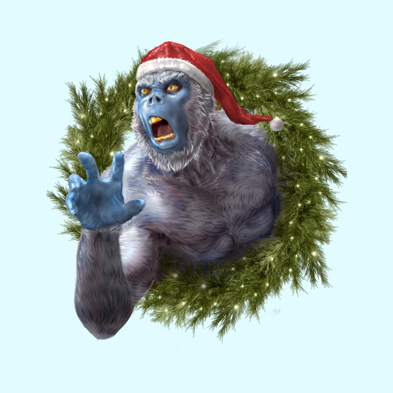 Christmas Yeti  by Ayota Illustration Shop