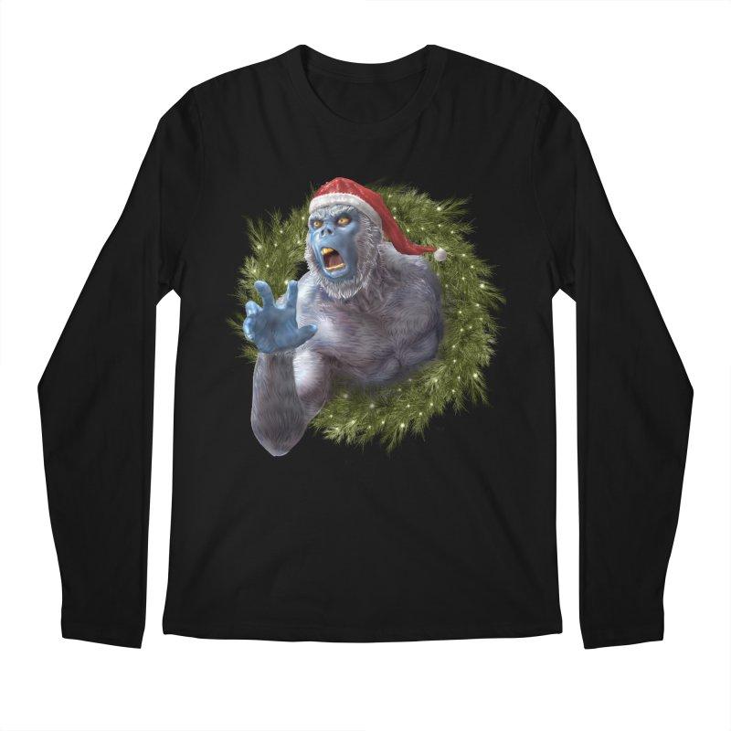 Christmas Yeti  Men's Regular Longsleeve T-Shirt by Ayota Illustration Shop