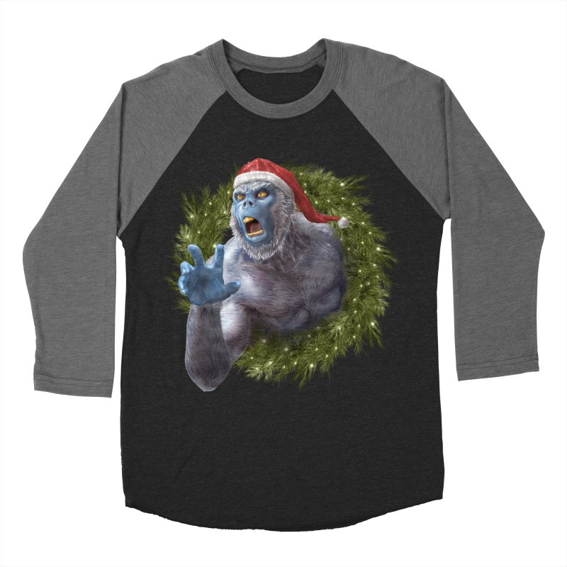 Christmas Yeti  Women's Baseball Triblend Longsleeve T-Shirt by Ayota Illustration Shop