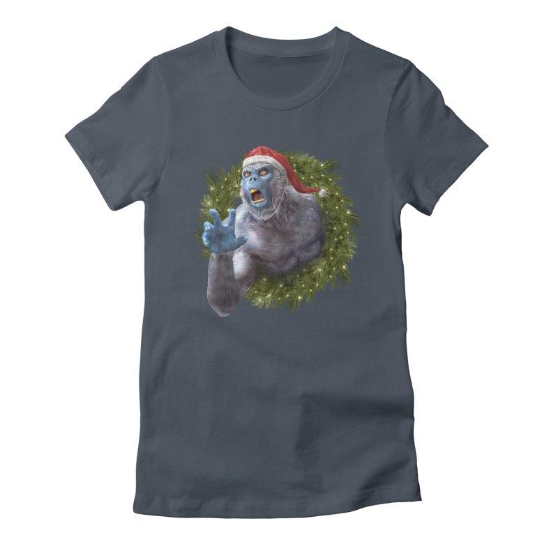 Christmas Yeti  Women's T-Shirt by Ayota Illustration Shop