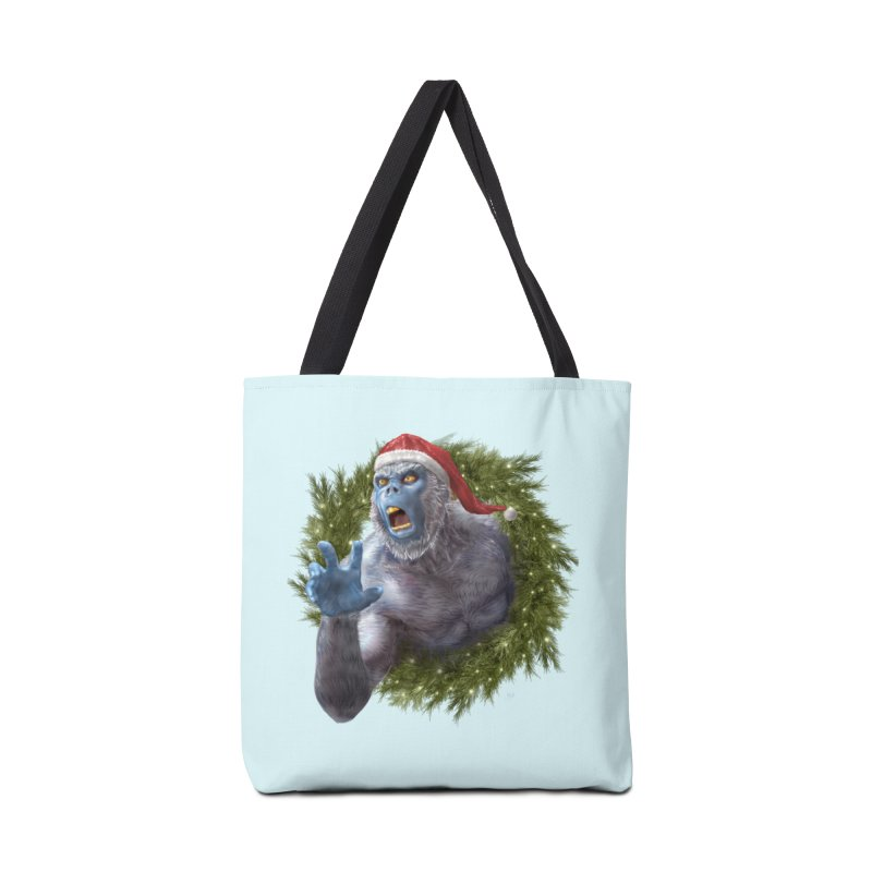Christmas Yeti  Accessories Tote Bag Bag by Ayota Illustration Shop