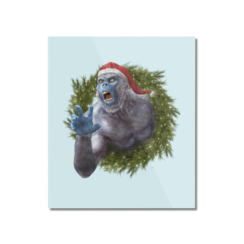 Christmas Yeti  Home Mounted Acrylic Print by Ayota Illustration Shop