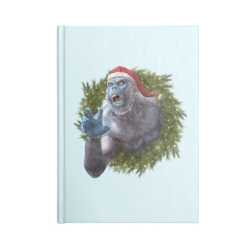 Christmas Yeti  Accessories Blank Journal Notebook by Ayota Illustration Shop